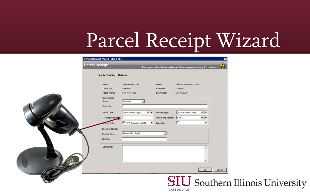 Parcel Receipt Wizard