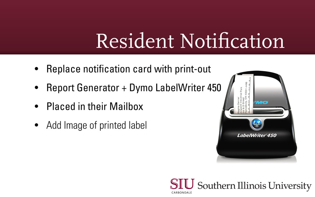 Resident Noti cation • Replace notification card...