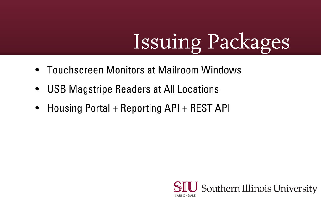 Issuing Packages • Touchscreen Monitors at Mail...