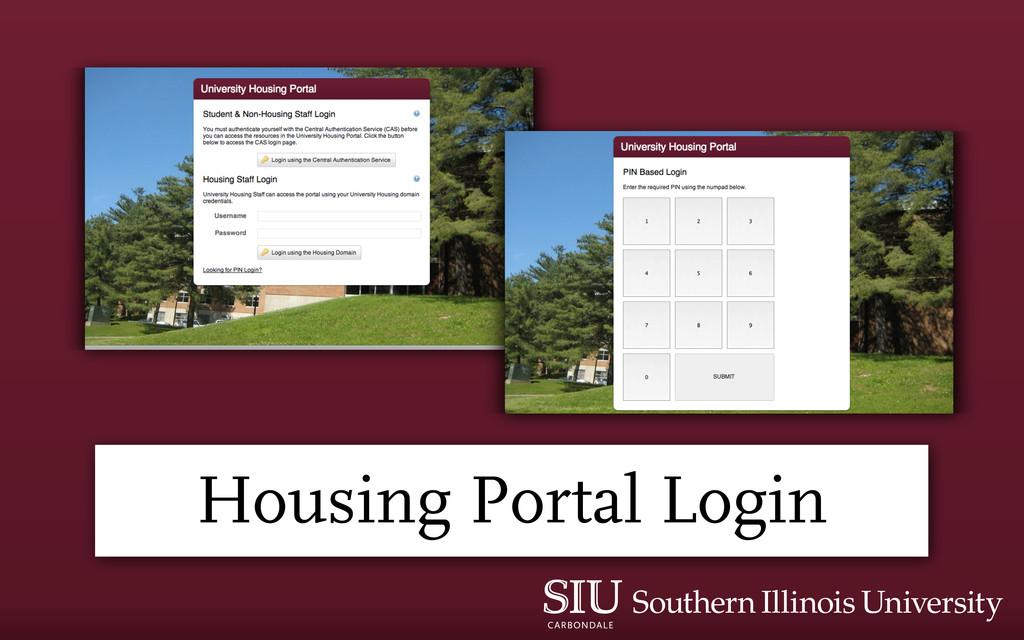 Housing Portal Login