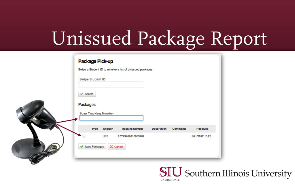 Unissued Package Report