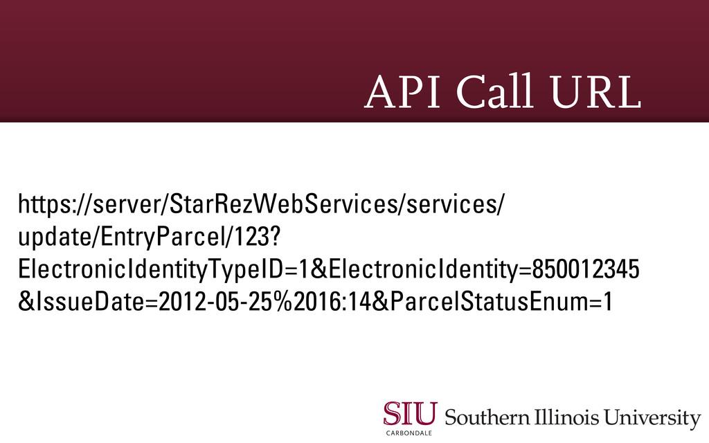 API Call URL https://server/StarRezWebServices/...
