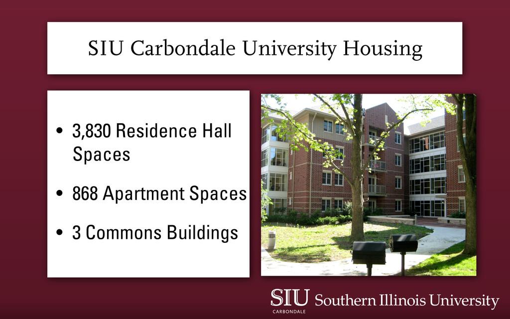 SIU Carbondale University Housing • 3,830 Resid...