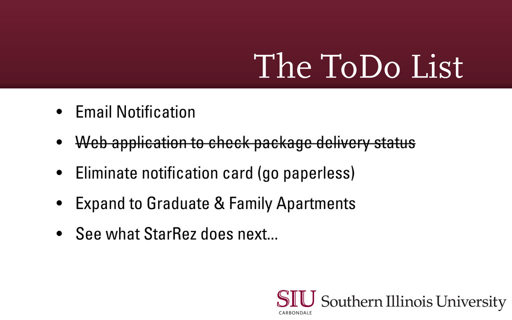 The ToDo List • Email Notification • Web applica...