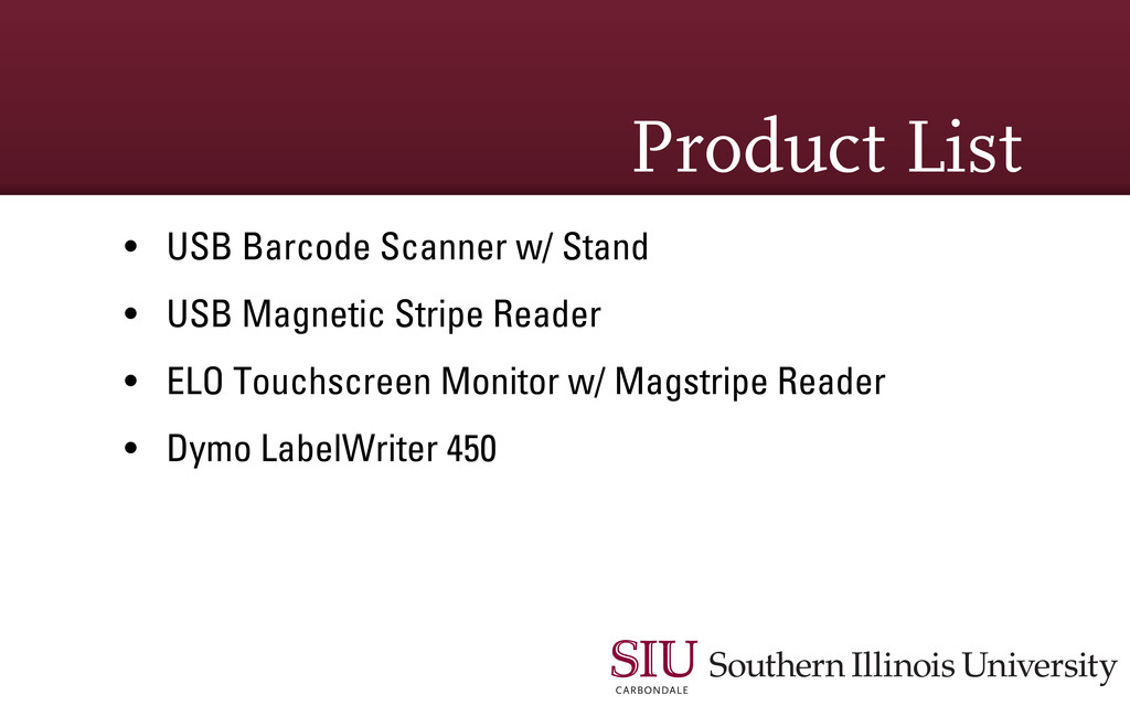 Product List • USB Barcode Scanner w/ Stand • U...