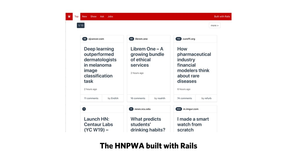 The HNPWA built with Rails