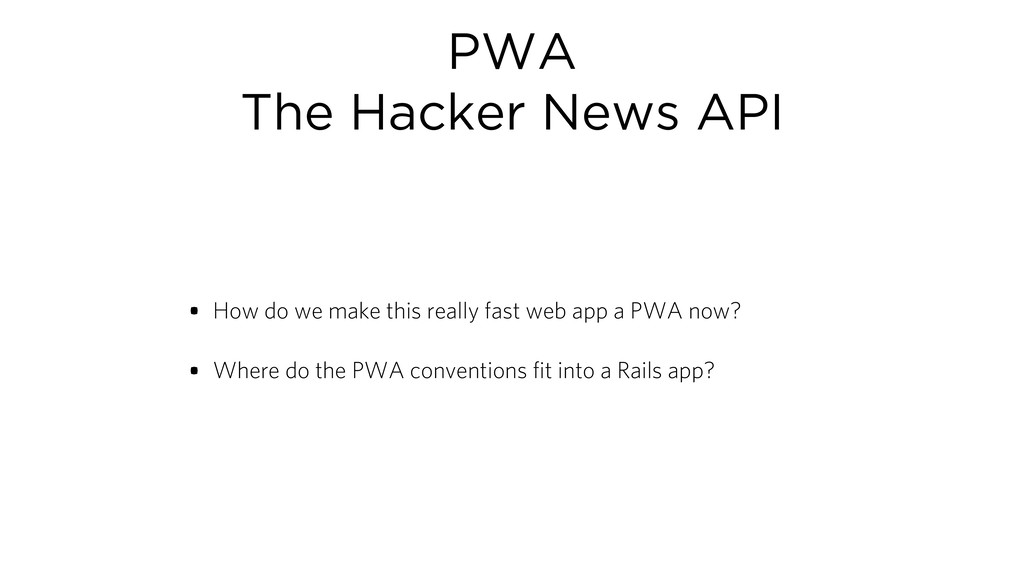 PWA The Hacker News API • How do we make this r...