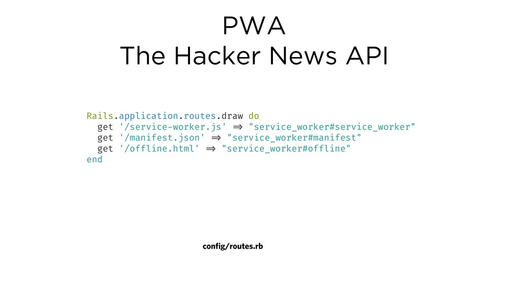 PWA The Hacker News API Rails.application.route...