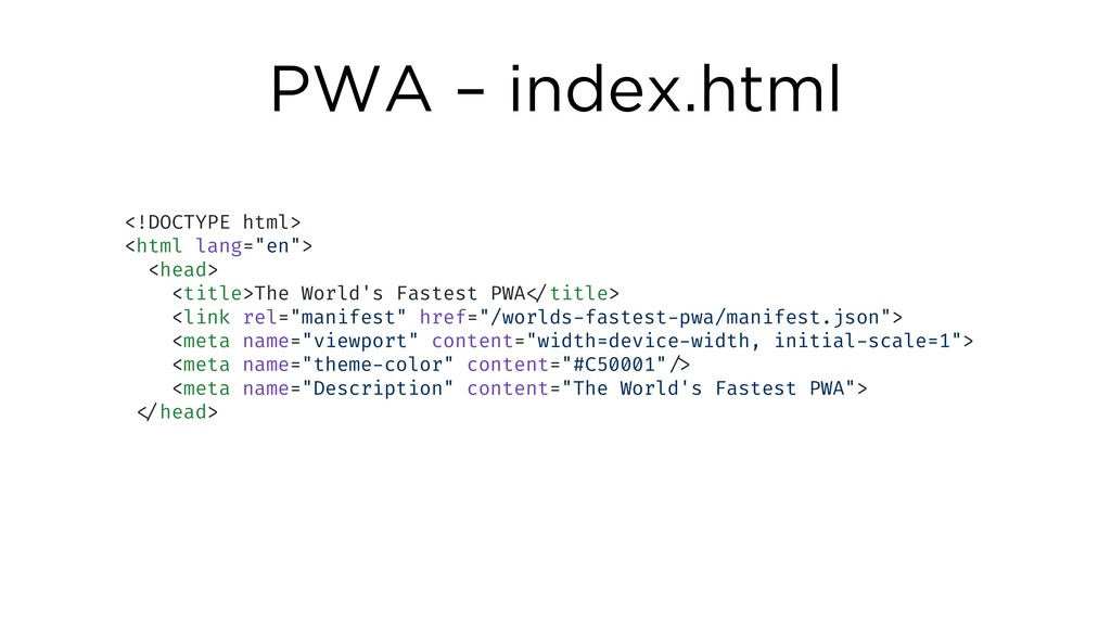 "PWA – index.html <!DOCTYPE html> <html lang=""en..."