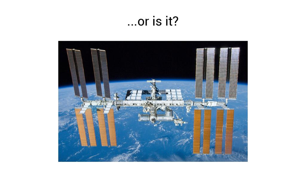 ...or is it?