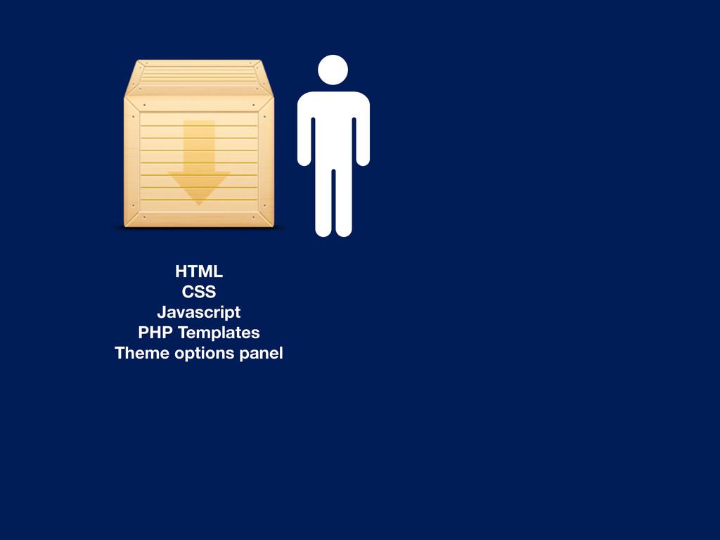 HTML CSS Javascript PHP Templates Theme options...