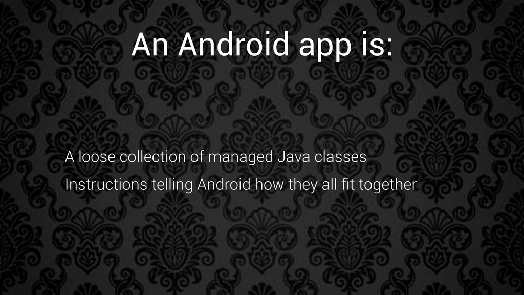 A loose collection of managed Java classes Inst...