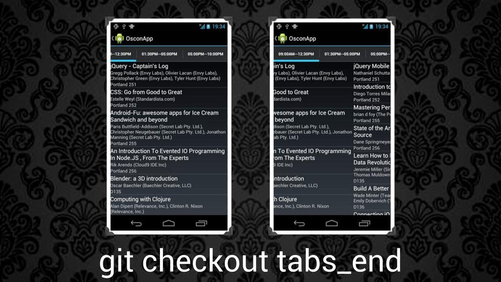 git checkout tabs_end