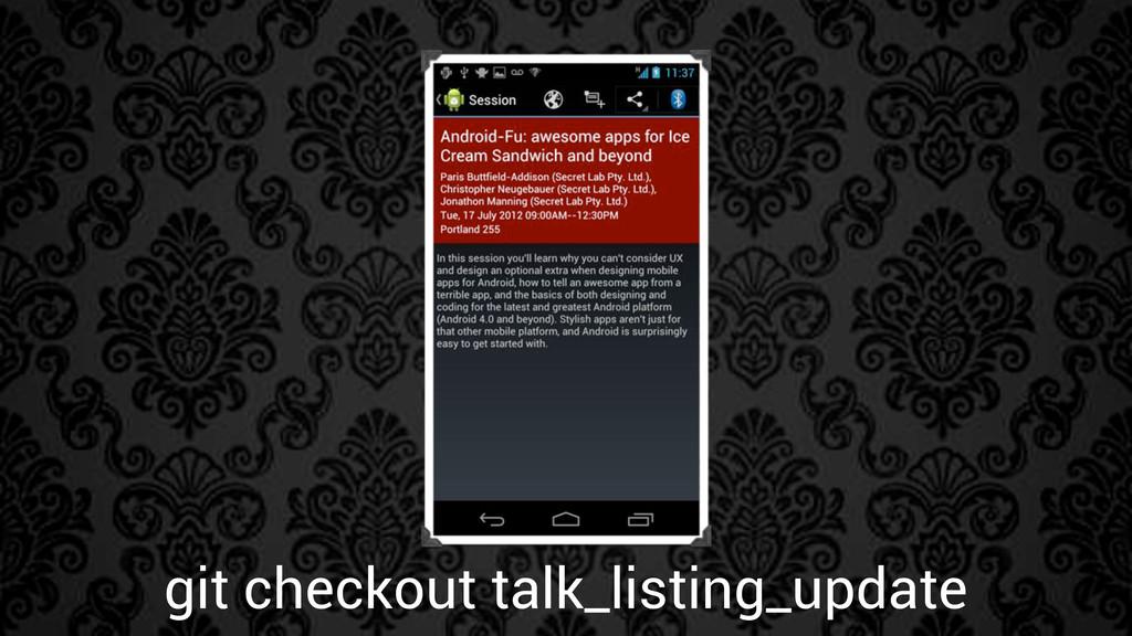 git checkout talk_listing_update