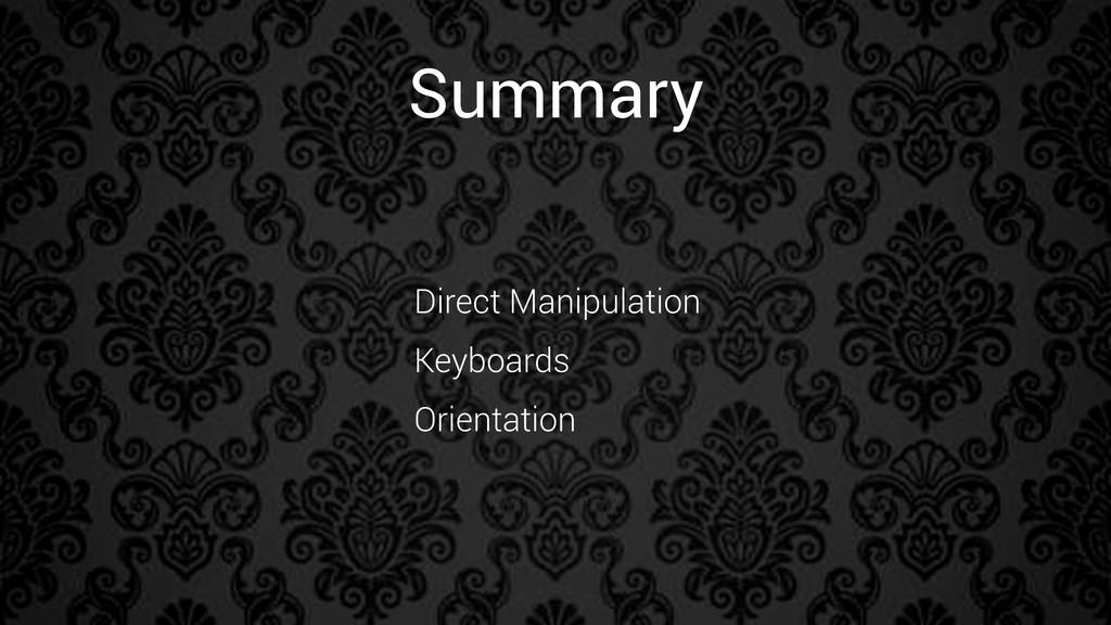 Summary Direct Manipulation Keyboards Orientati...