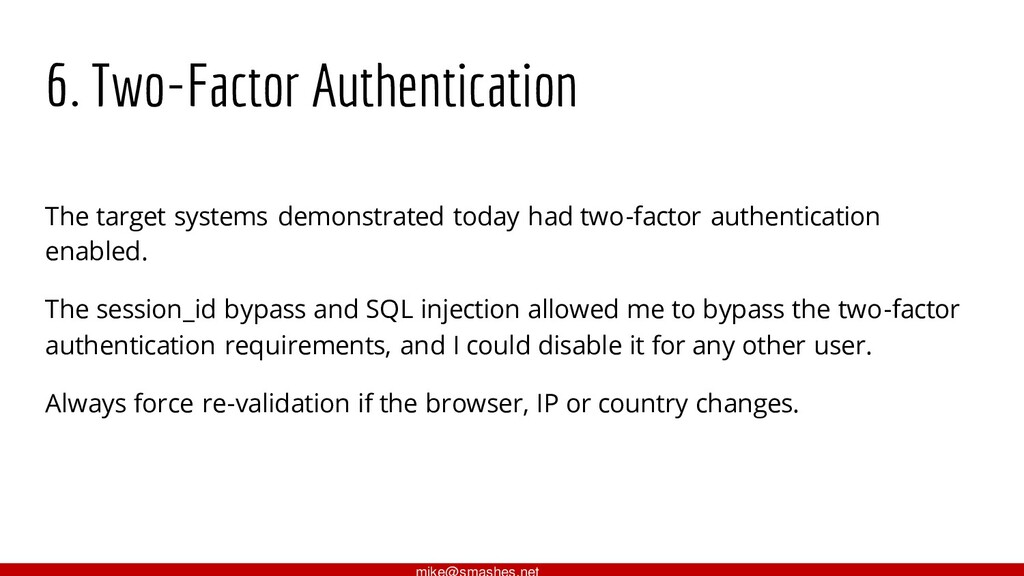 6. Two-Factor Authentication The target systems...