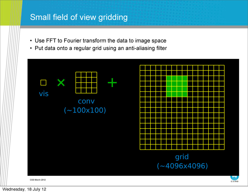 CSS March 2012 Small field of view gridding • U...