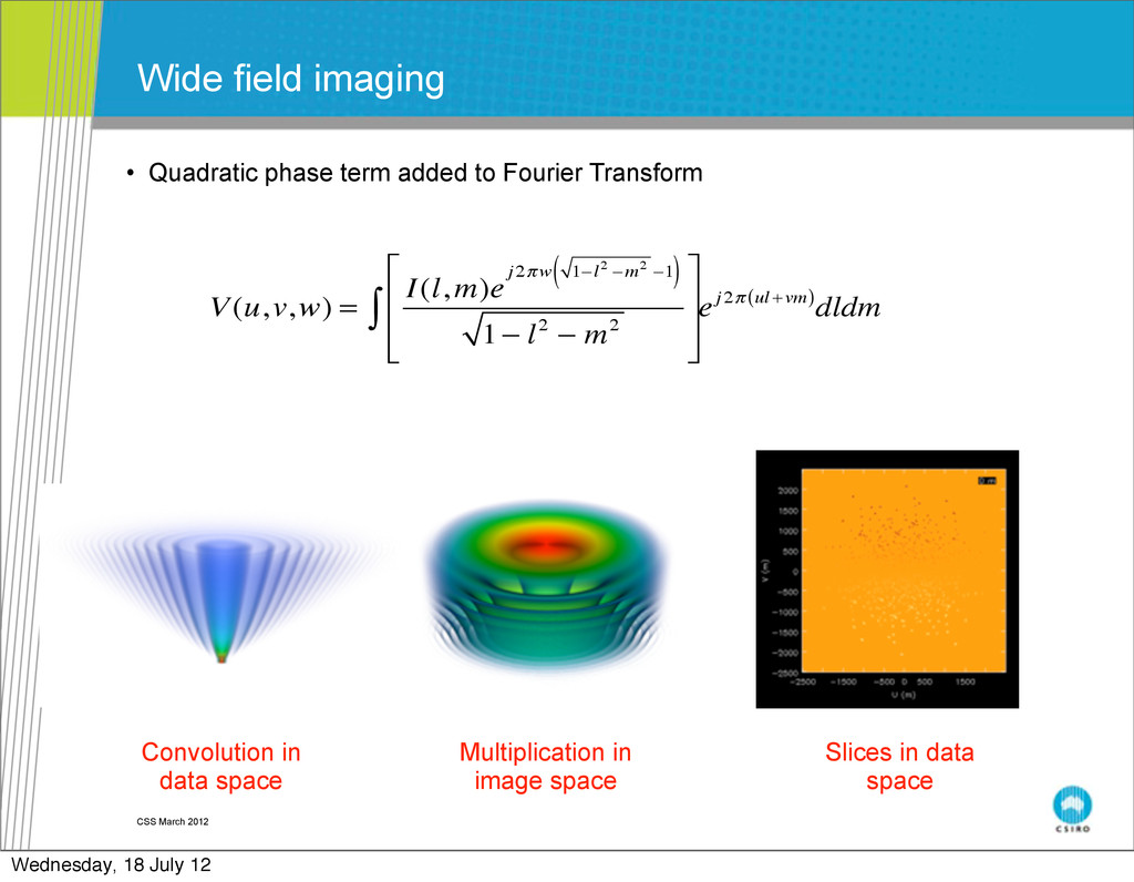 • Quadratic phase term added to Fourier Transfo...