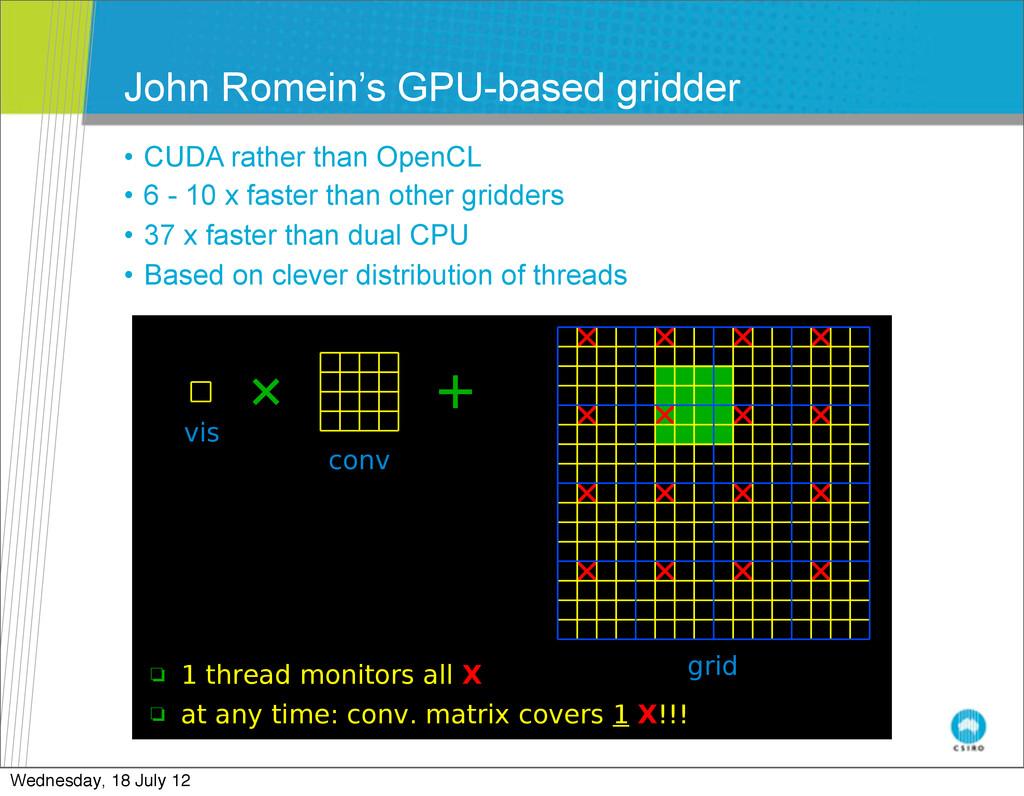 John Romein's GPU-based gridder • CUDA rather t...