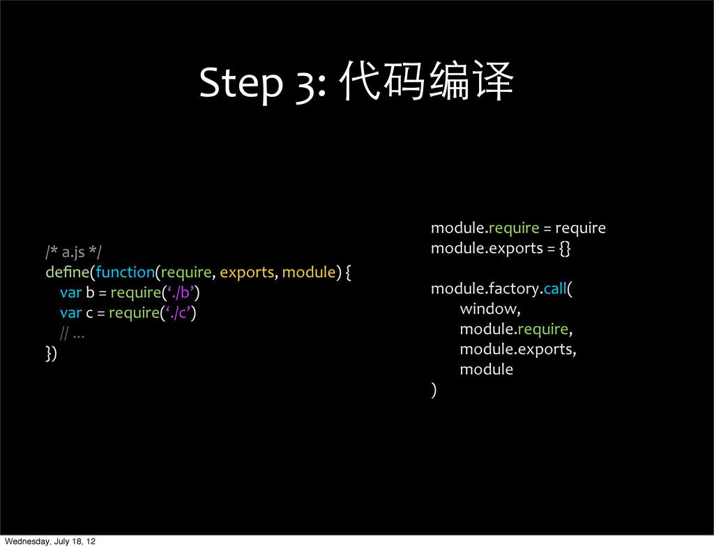 Step 3: 代码编译 module.require = requi...
