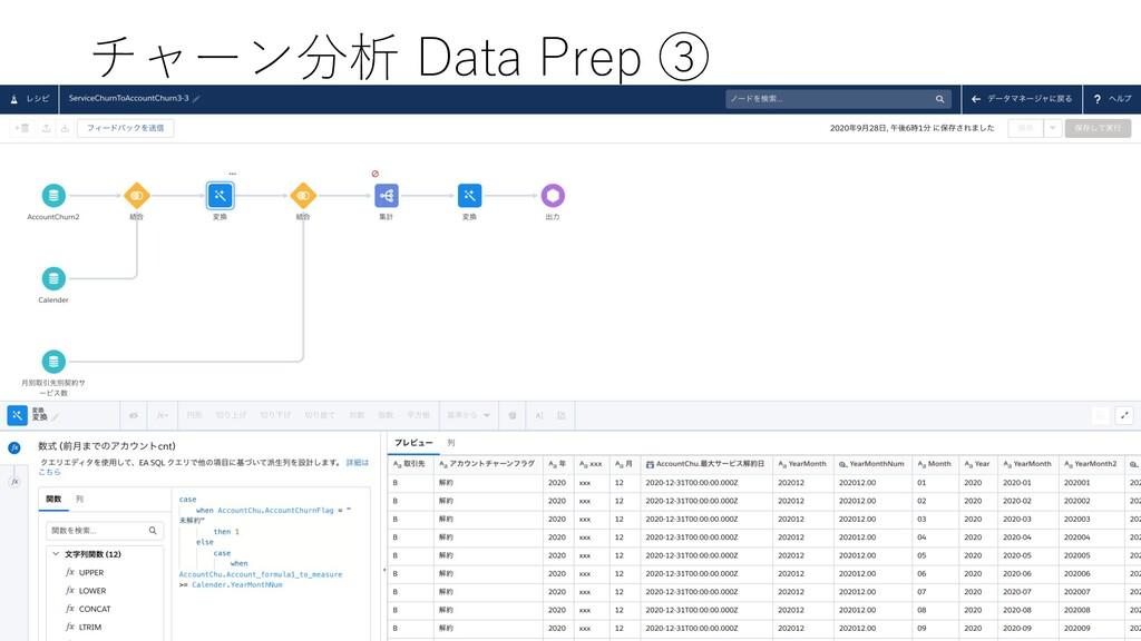 チャーン分析 Data Prep ③
