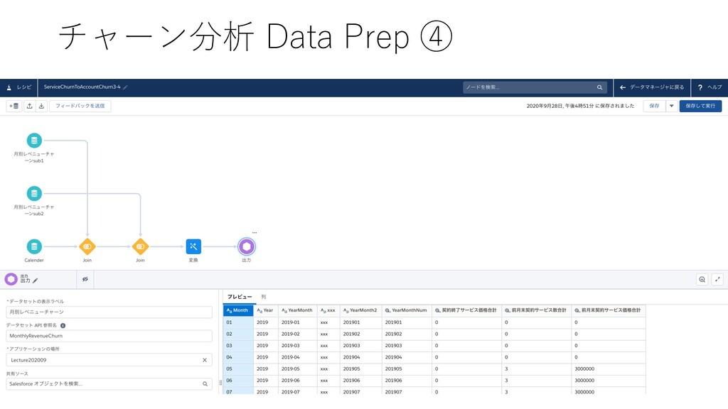 チャーン分析 Data Prep ④
