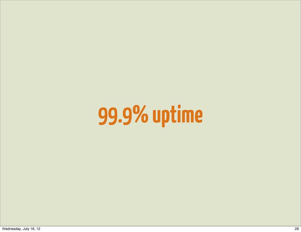 99.9% uptime 28 Wednesday, July 18, 12