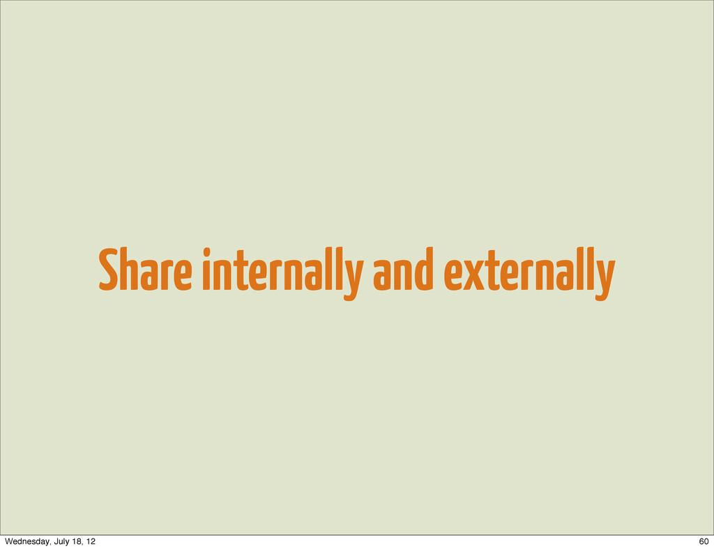 Share internally and externally 60 Wednesday, J...