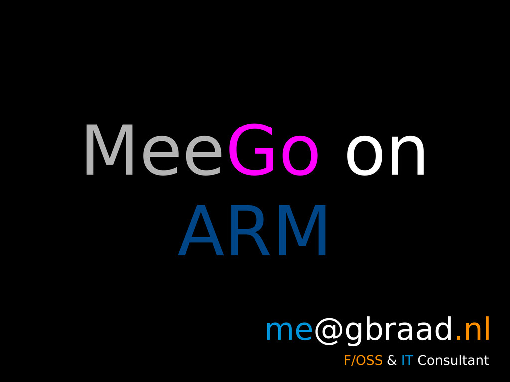 MeeGo on ARM