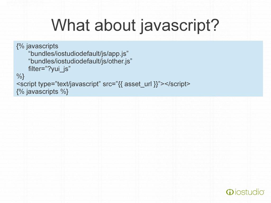 "What about javascript? {% javascripts ""bundles/..."