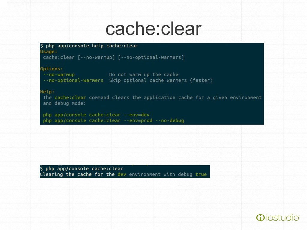 cache:clear