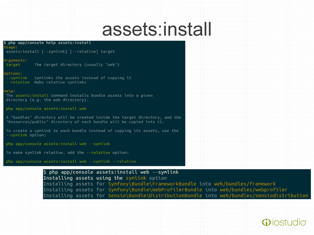 assets:install