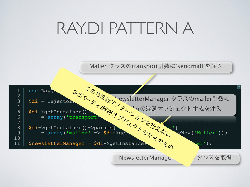 RAY.DI PATTERN A NewsletterManagerͷΠϯελϯεΛऔಘ Ma...