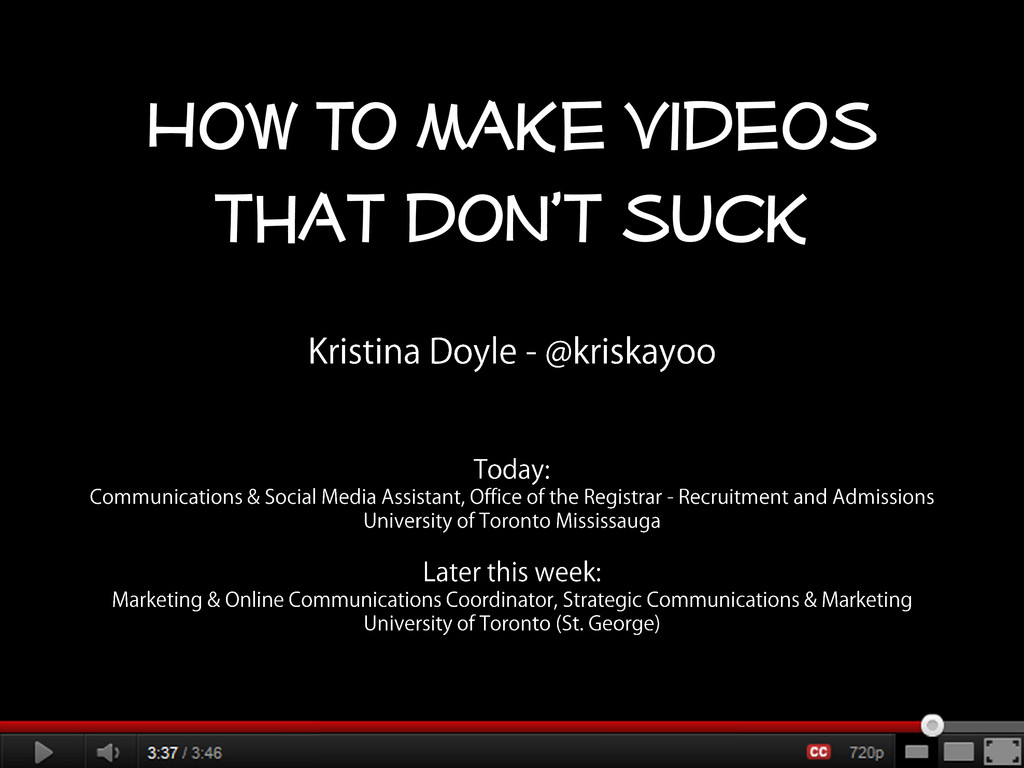 How to make videos that don't suck