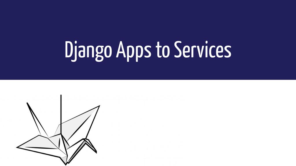 Django Apps to Services