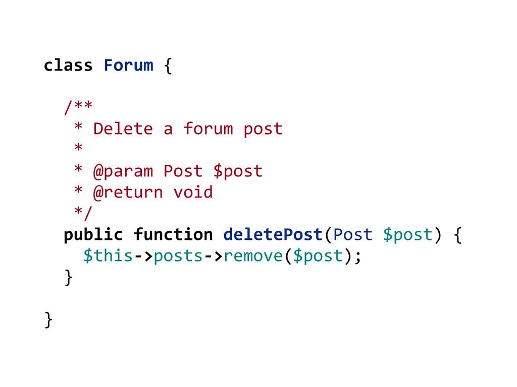 class Forum {   /**    *...