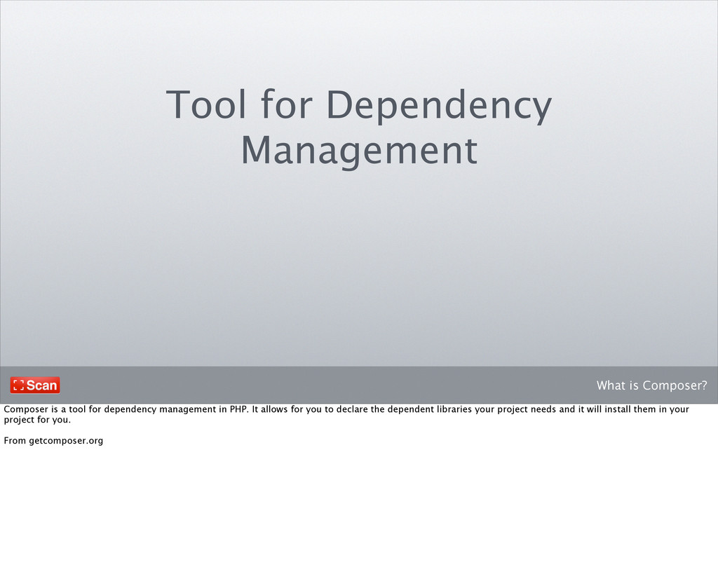 What is Composer? Tool for Dependency Managemen...