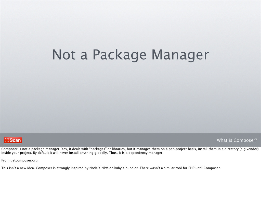 What is Composer? Not a Package Manager Compose...