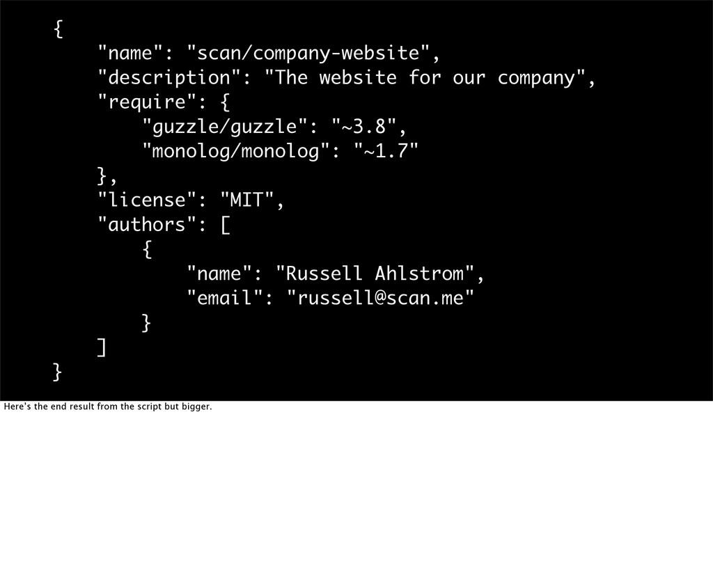 """{ """"name"""": """"scan/company-website"""", """"description""""..."""
