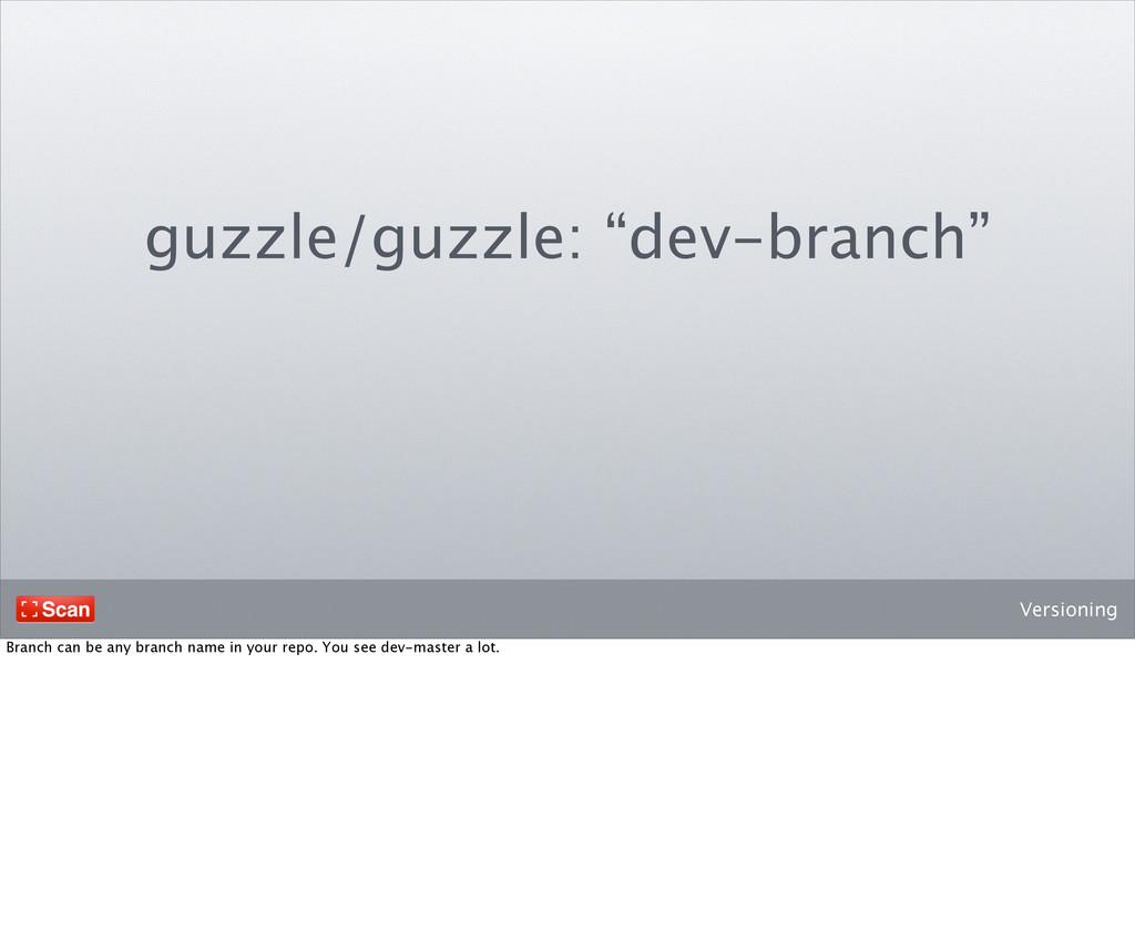 "Versioning guzzle/guzzle: ""dev-branch"" Branch c..."