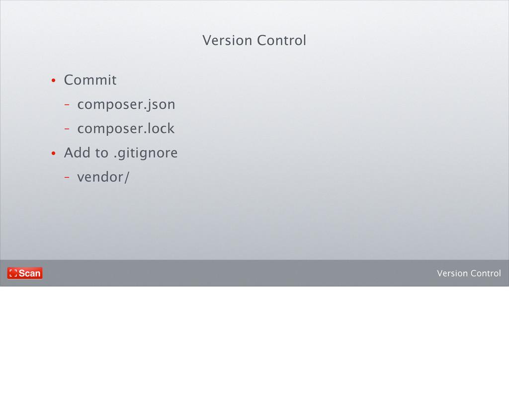 Version Control • Commit - composer.json - comp...