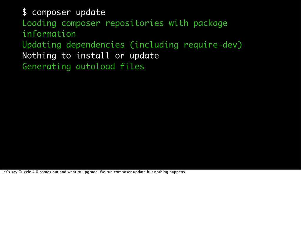 $ composer update Loading composer repositories...