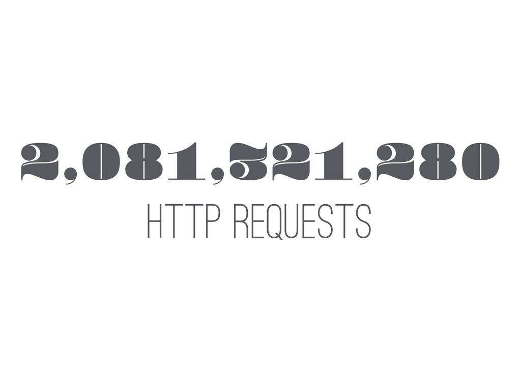 2,081,321,280 HTTP REQUESTS