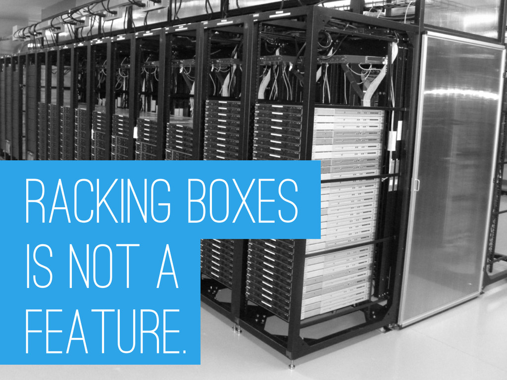 racking boxes is not A FEATURE.