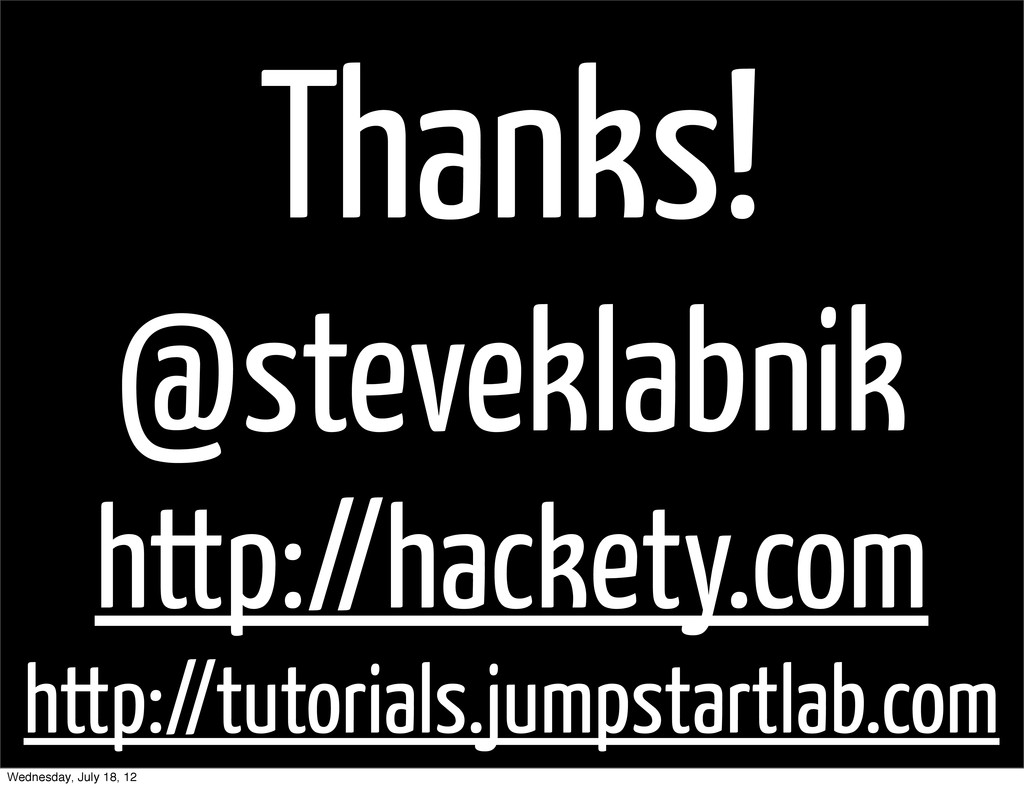 Thanks! @steveklabnik http://hackety.com http:/...