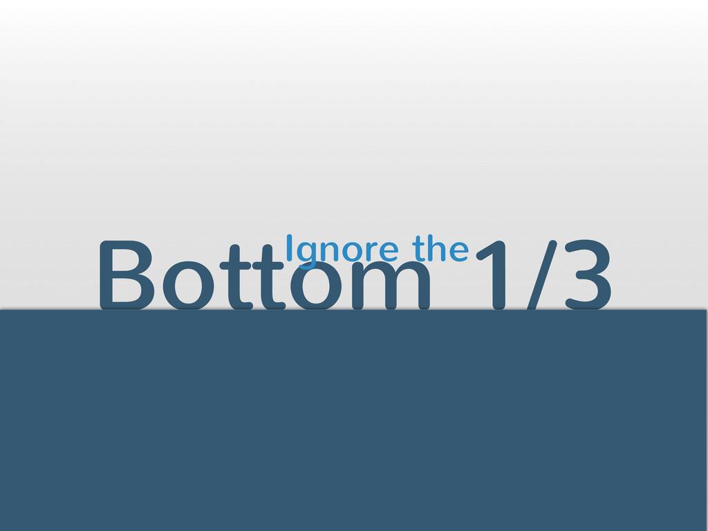 Bottom 1/3 26 Ignore the