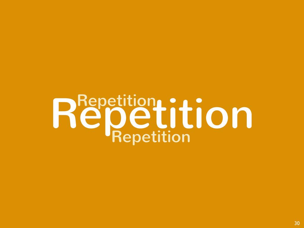 Repetition 30 Repetition Repetition