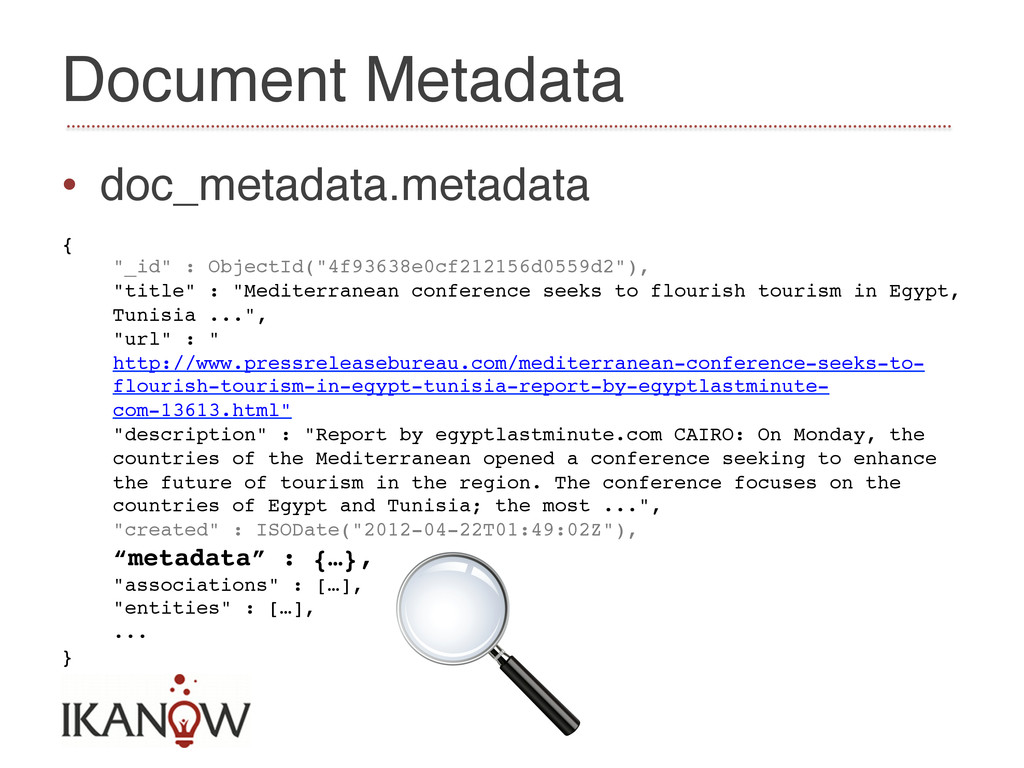 Document Metadata! • doc_metadata.metadata! {!...