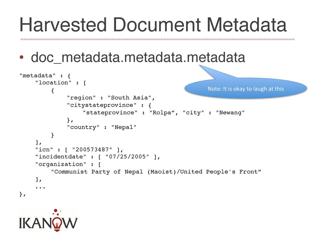Harvested Document Metadata! • doc_metadata.me...