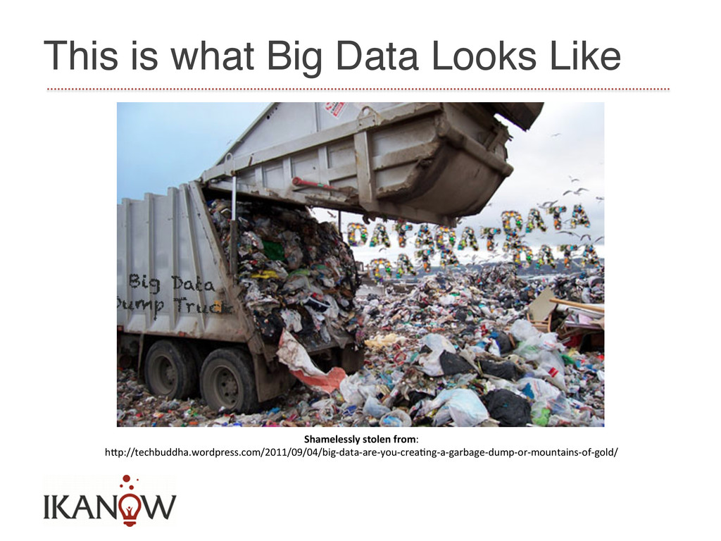 This is what Big Data Looks Like! Shamelessly...